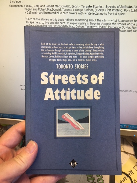 Image for Toronto Stories : Streets of Attitude.  First Edition