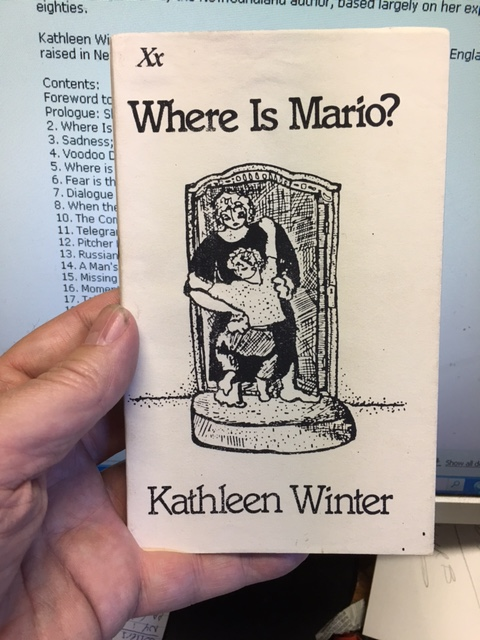 Image for Where Is Mario? A novel.  First Edition, Signed Paperback.