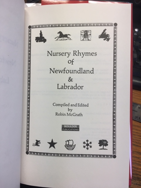Image for Nursery Rhymes of Newfoundland & Labrador.  First Edition in dustjacket.