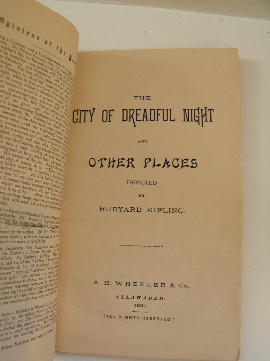 Image for City of Dreadful Night and other places. Indian Railway Library, No. 14.  First Indian Edition.