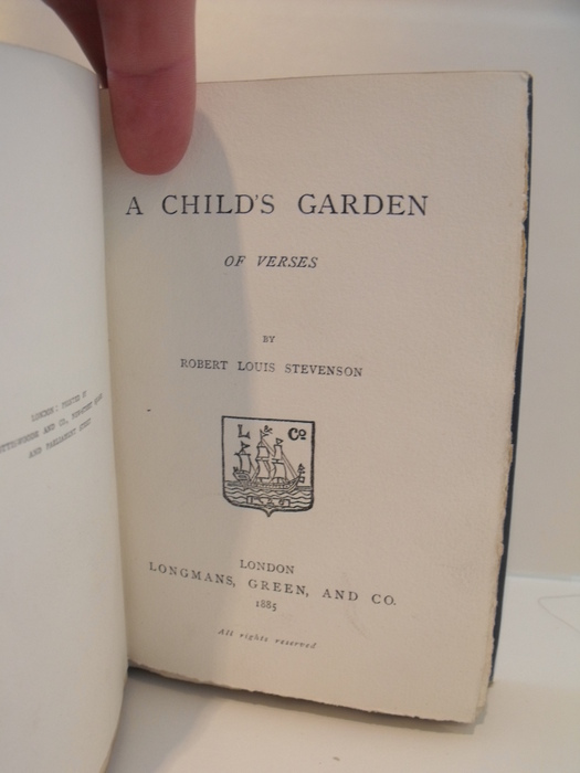 Image for Child's Garden of Verses.  First Edition.