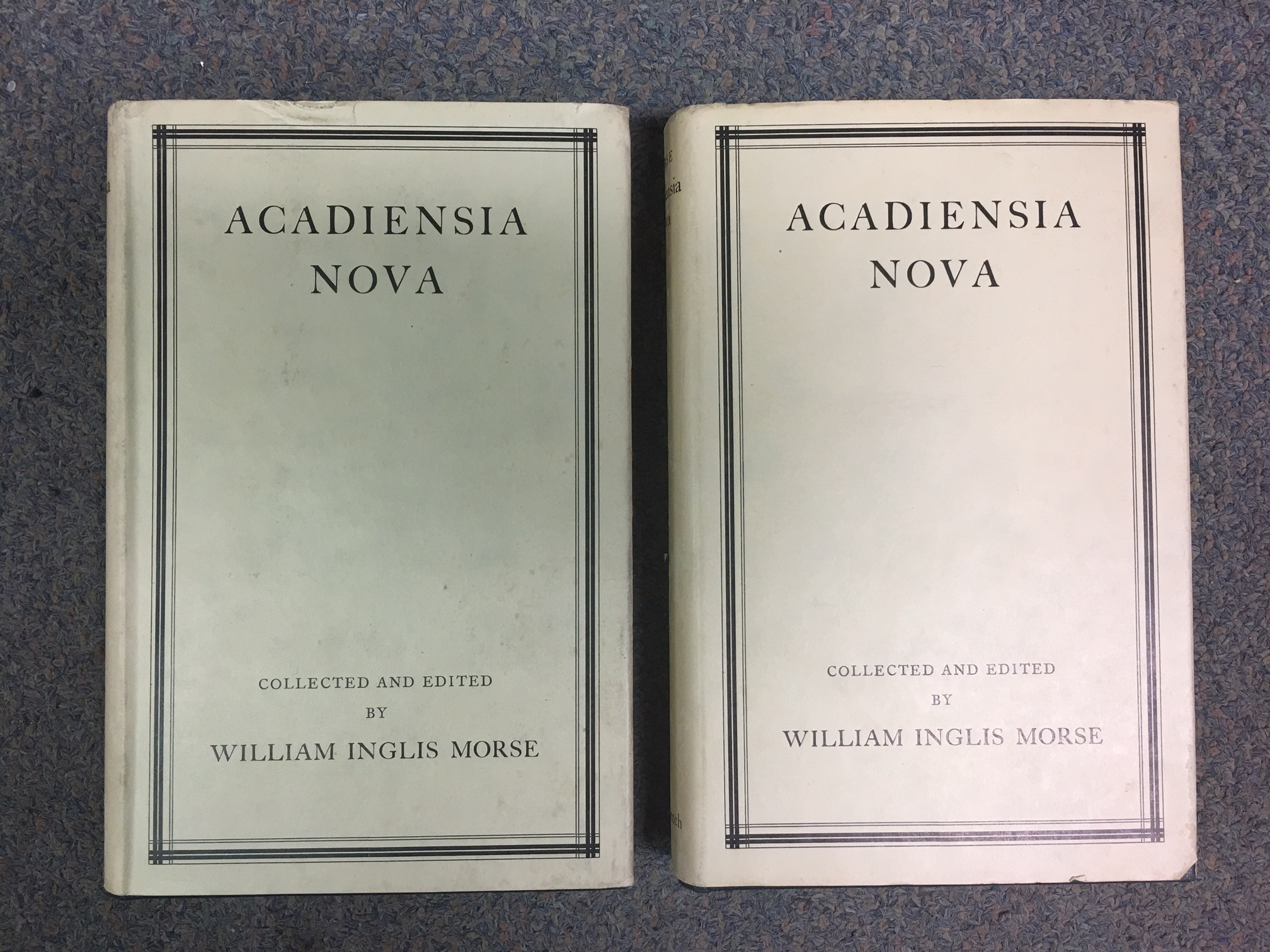 Image for Acadiensia Nova (1598-1779). In Two Volumes. First Edition in dustjackets