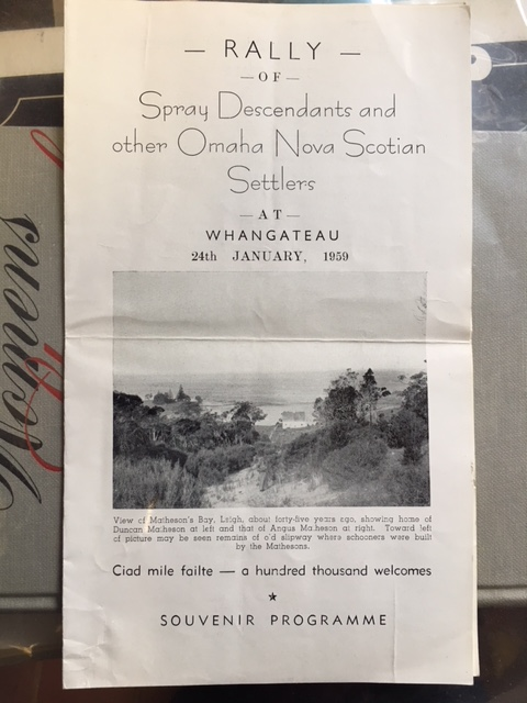 Image for Rally of Spray Descendants and other Omaha Nova Scotian Settlers at Whangateau, 24th January, 1959