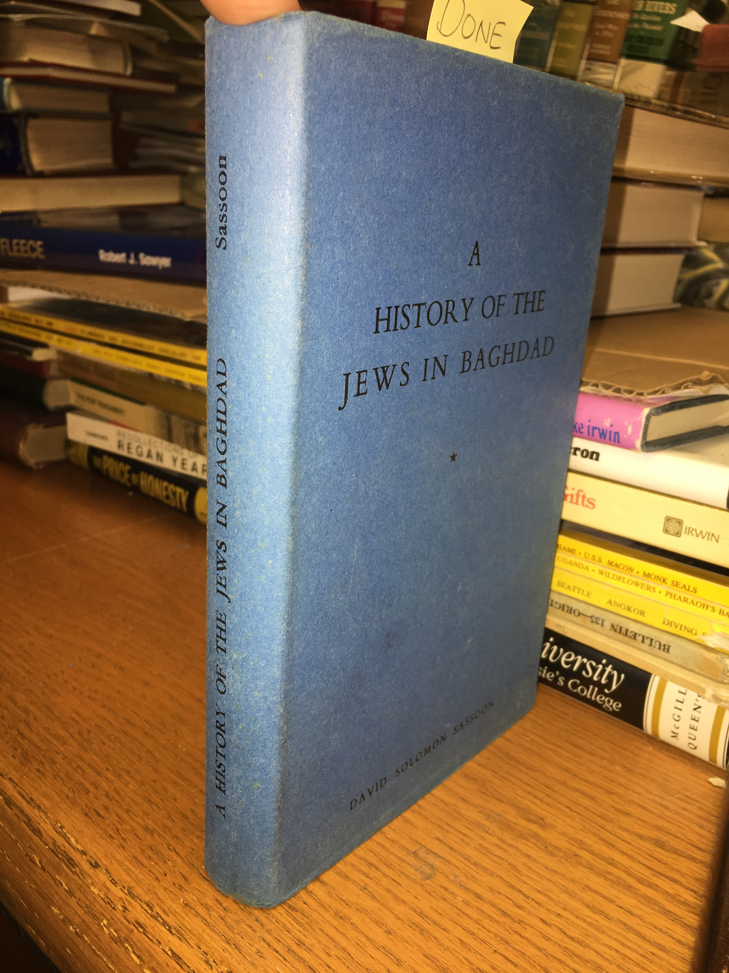 Image for A History of the Jews in Baghdad. First Edition in dustjacket
