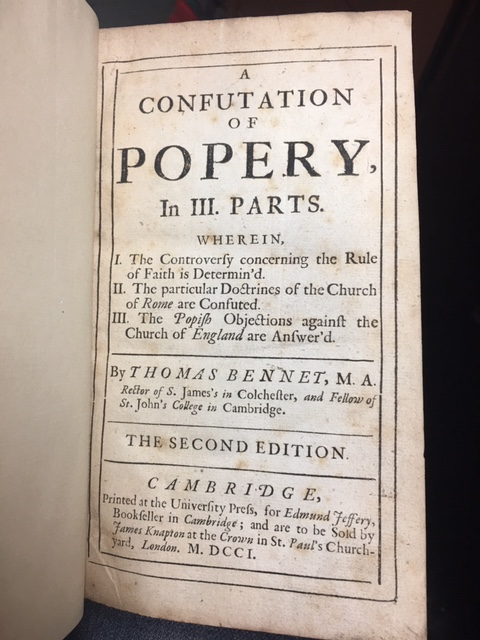Image for A Confutation of Popery, in Three Parts.  Second Edition