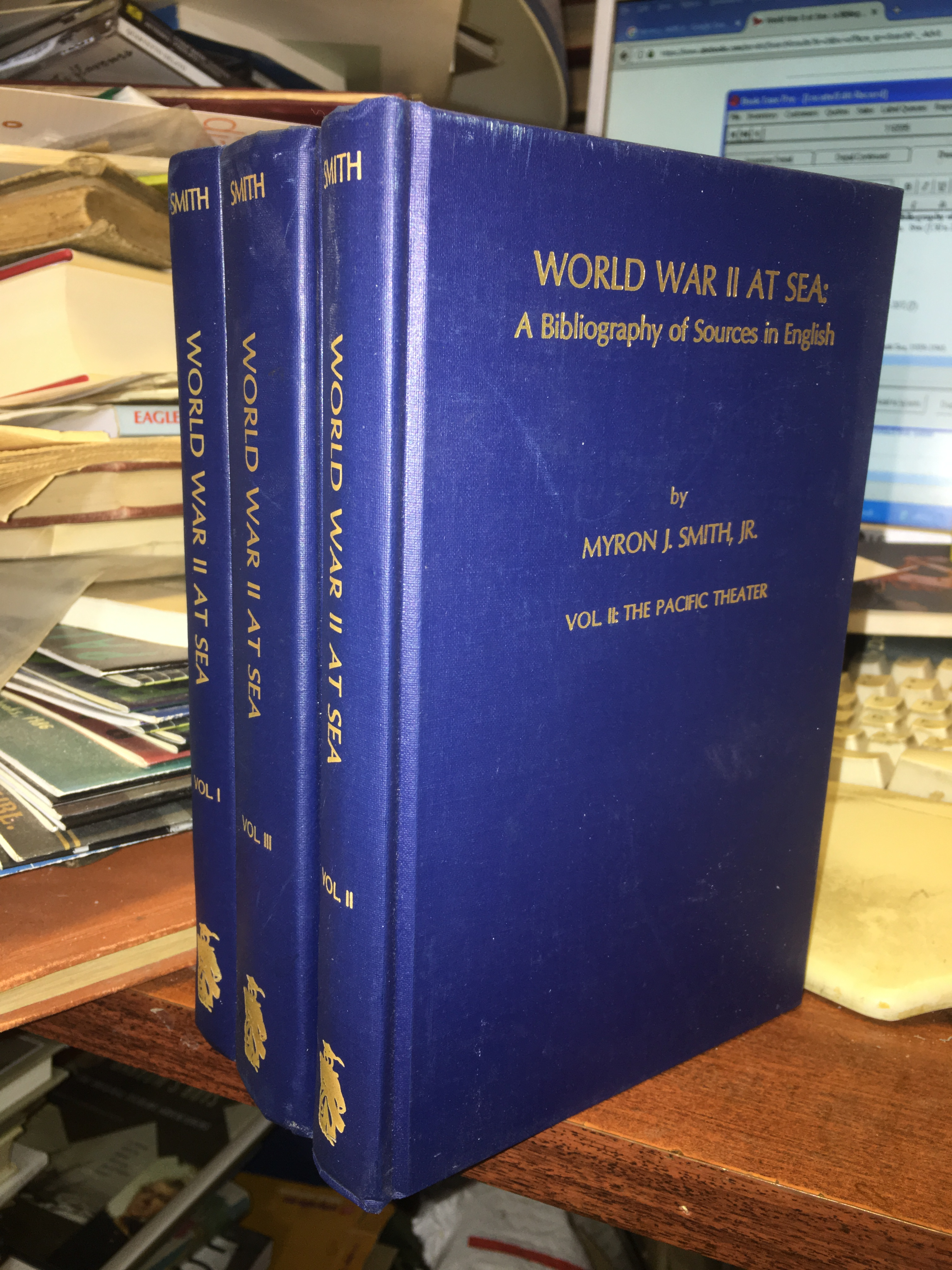 Image for World War II at Sea : A Bibliography of Sources in English 1974-1989.  First Edition. Three Volumes