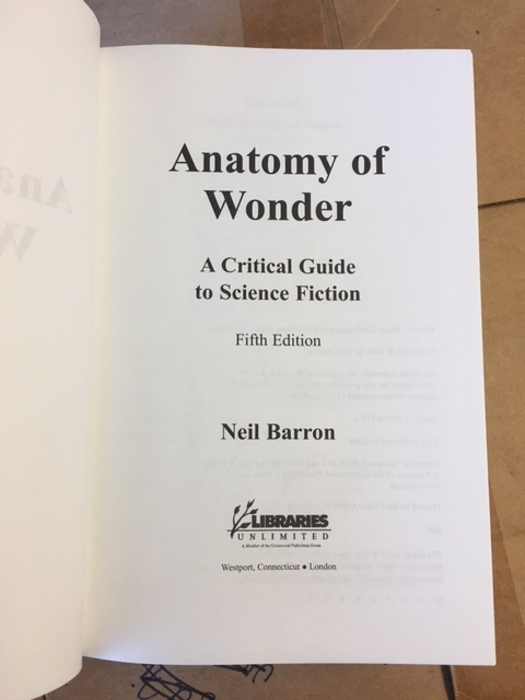 Image for Anatomy of Wonder : A Critical Guide to Science Fiction. Fifth Edition