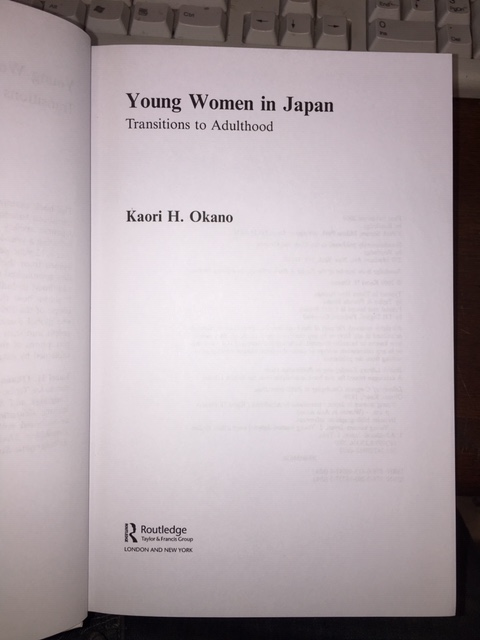 Image for Young Women in Japan : Transitions to Adulthood. First Edition
