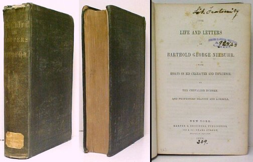 Image for Life and Letters of Barthold George Niebuhr.  ex-lib
