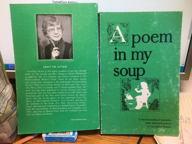 Image for A Poem in My Soup  : A Newfoundland Sampler with Selected Poetry of Geraldine Rubia.  First Edition