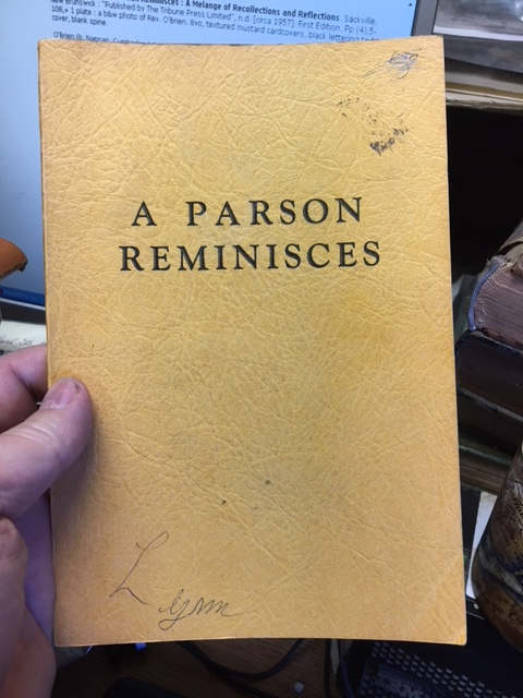 Image for A Parson Reminisces : A Melange of Recollections and Reflections. First Edition