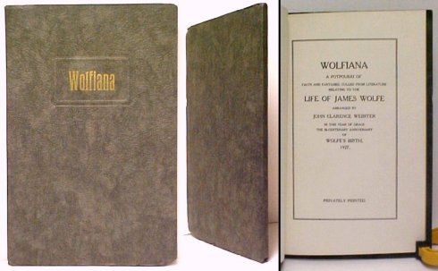 Image for Wolfiana : A Potpourri of Facts and Fantasies, Culled from Literature.  Signed by Webster