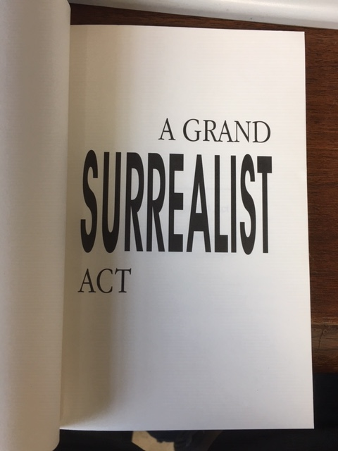 Image for A Grand Surrealist Act. First Edition