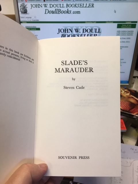 Image for Slade's Marauder. First Edition in dustjacket