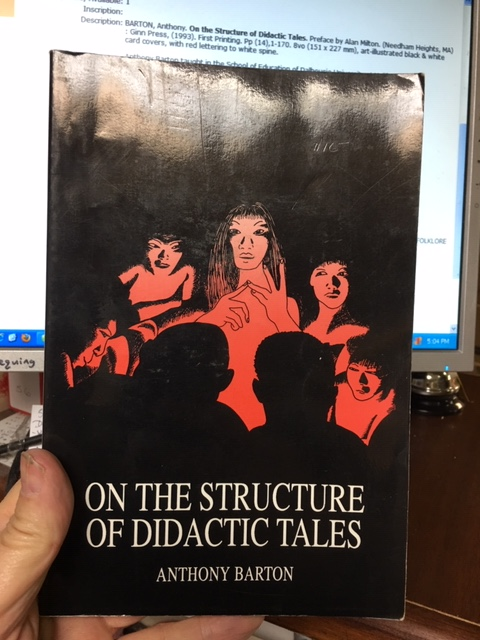 Image for On the Structure of Didactic Tales.  First Edition