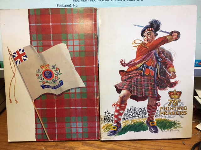 Image for A Short History of the Old 78th Regiment or Fraser's Highlanders 1757-1763.   First Edition.