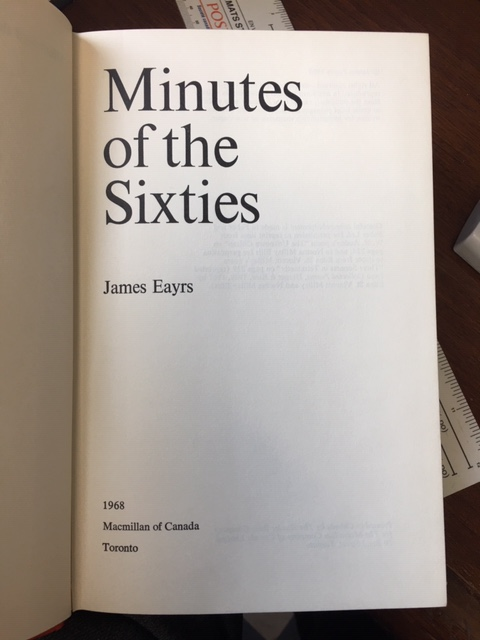 Image for Minutes of the Sixties.First Edition in dustjacket.