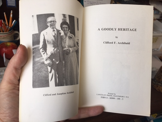 Image for A Goodly Heritage.  First Edition