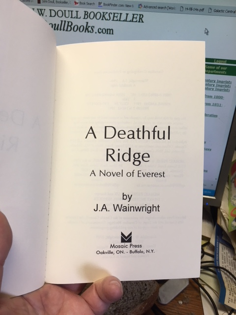 Image for A Deathful Ridge : A Novel of Everest. First Edition, Paperback