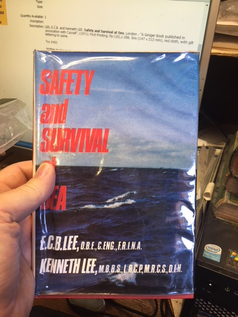Image for Safety and Survival at Sea. First Edition in dustjacket