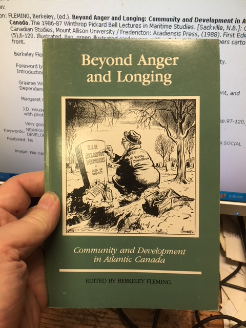 Image for Beyond Anger and Longing : Community and Development in Atlantic Canada.  First Edition