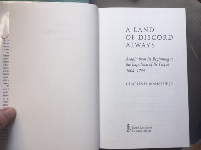 Image for A Land of Discord Always : Acadia from Its Beginning to the Expulsion of Its People 1604-1755.  First Edition in dustjacket.