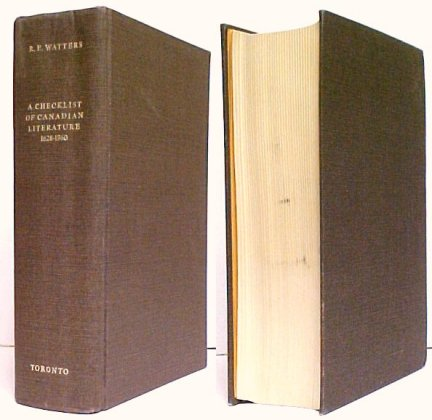 Image for Checklist of Canadian Literature and Background Materials 1628-1960. 2nd ed. no dj