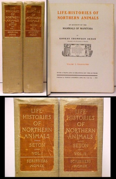 Image for Life-Histories of Northern Animals. 1st US. 2 vols.