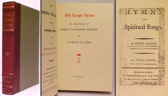 Image for Old Lamps Aglow  : An Appreciation of Early Canadian Poetry.  De Luxe Edition. signed