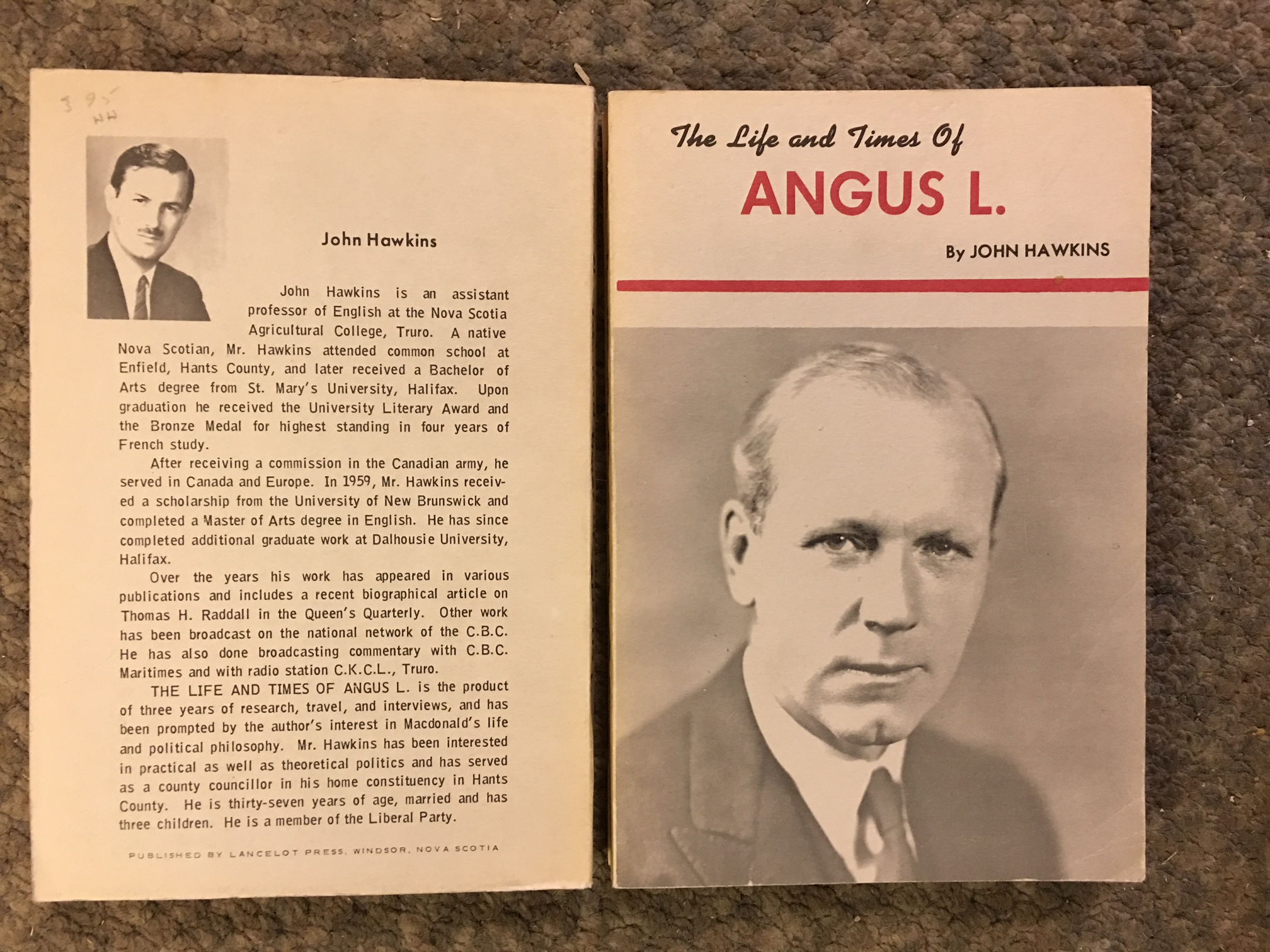 Image for Life and Times of Angus L.  First Edition.