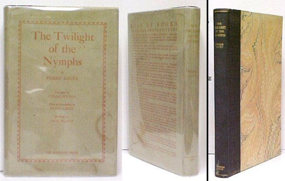 Image for Twilight of the Nymphs. Translated by Phillis Duveen; With an Introduction by Shane Leslie. Limited Edition