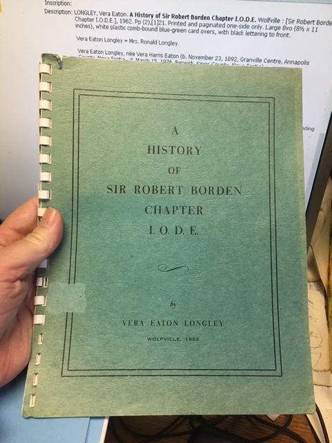 Image for A History of Sir Robert Borden Chapter I.O.D.E.  First Edition.
