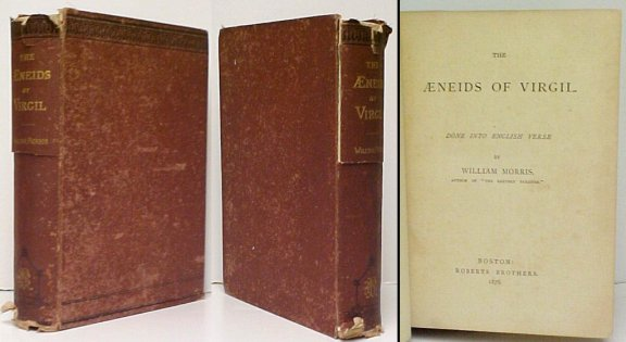 Image for Aeneids of Virgil : Done Into English Verse by William Morris.  US ed.