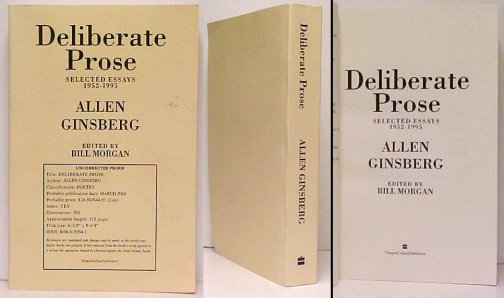 Image for Deliberate Prose: Selected Essays 1952-1995.  proof.