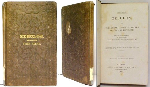 Image for Zebulon; or, The Moral Claims of Seamen Stated and Enforced..  1st US ed.