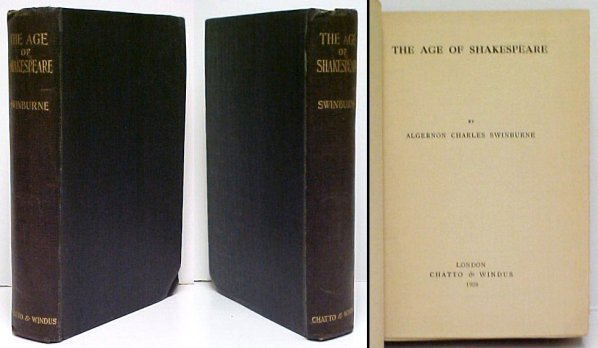 Image for Age of Shakespeare.  First Edition, presentation copy