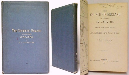 Image for Church of England in Canada, 1759-1793  : From the Conquest to the Establishment of the See of Quebec.   First Edition, signed