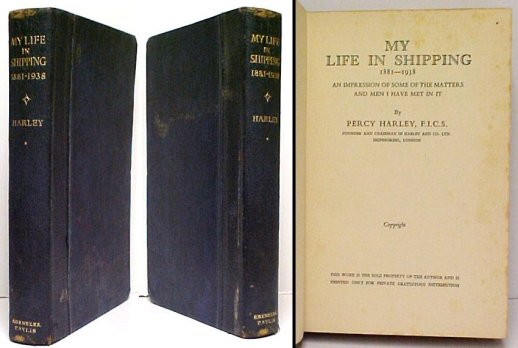 Image for My Life in Shipping 1881-1938.  signed.