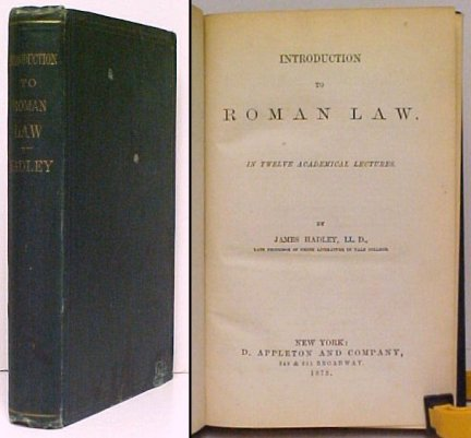 Image for Introduction to Roman Law : in Twelve Academical Lectures