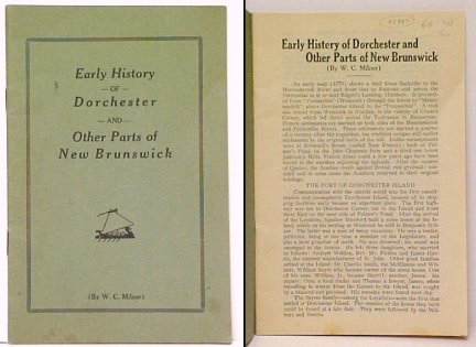 Image for Early History of Dorchester and Other Parts of New Brunswick. First Edition.