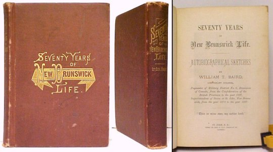 Image for Seventy Years of New Brunswick Life. 1st ed.