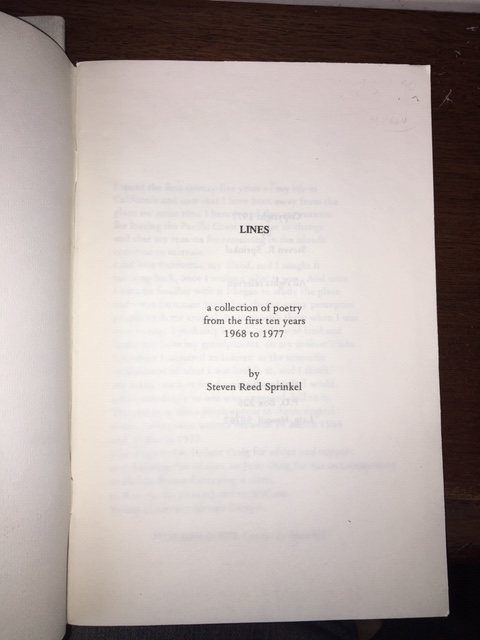 Image for Lines : : a collection of poetry from the first ten years 1968 to 1977. First Edition