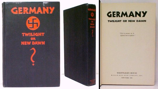 Image for Germany : Twilight or New Dawn.  1st US