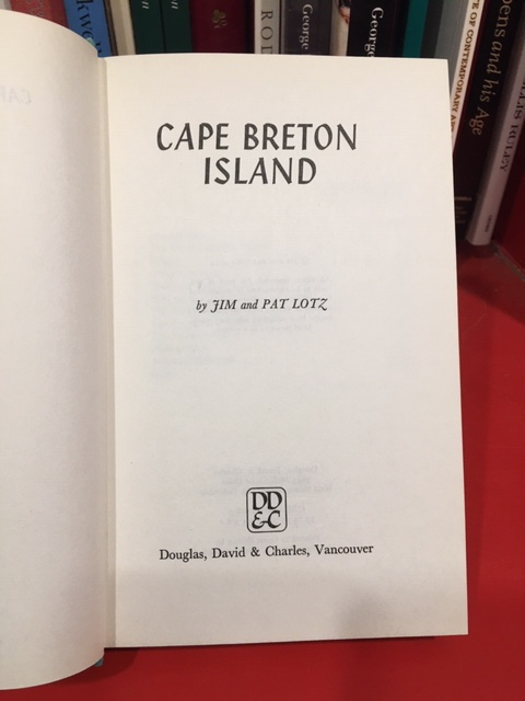 Image for Cape Breton Island. First Edition in dustjacket, Green cloth variant.