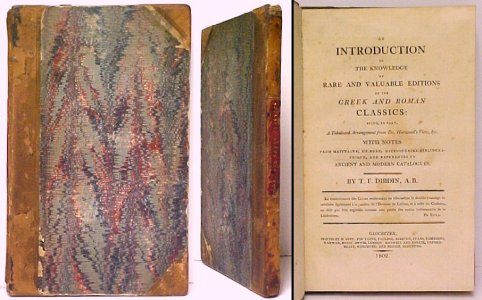Image for Introduction to the Knowledge of Rare and Valuable Editions of the Greek and Roman Classics. 1st ed.