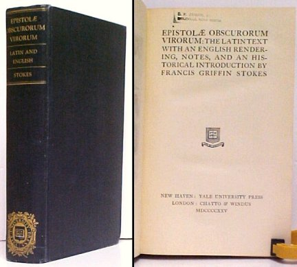 Image for Epistolæ Obscurorum Virorum : The Latin Text with an English Rendering, Notes, and an Historical Introduction