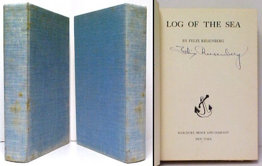 Image for Log of the Sea.   First Edition, Signed by author