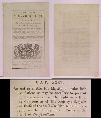 Image for Act to enable His Majesty to make such Regulations as may be necessa