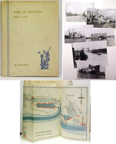 Image for Port of London 1909-1934.  white paper covered boards