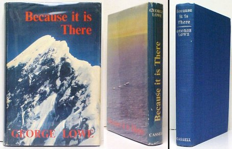 Image for Because it is There.   First Edition in dustjacket.